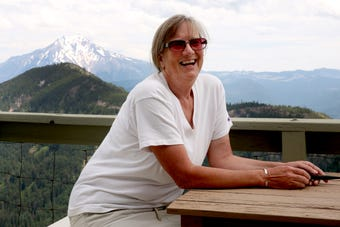 Ann Amundsen has been the Coffin Mountain Lookout in the Willamette National Forest for 29 seasons.
