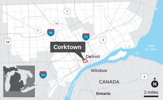 map of corktown detroit Corktown S History Begins With Immigrants map of corktown detroit