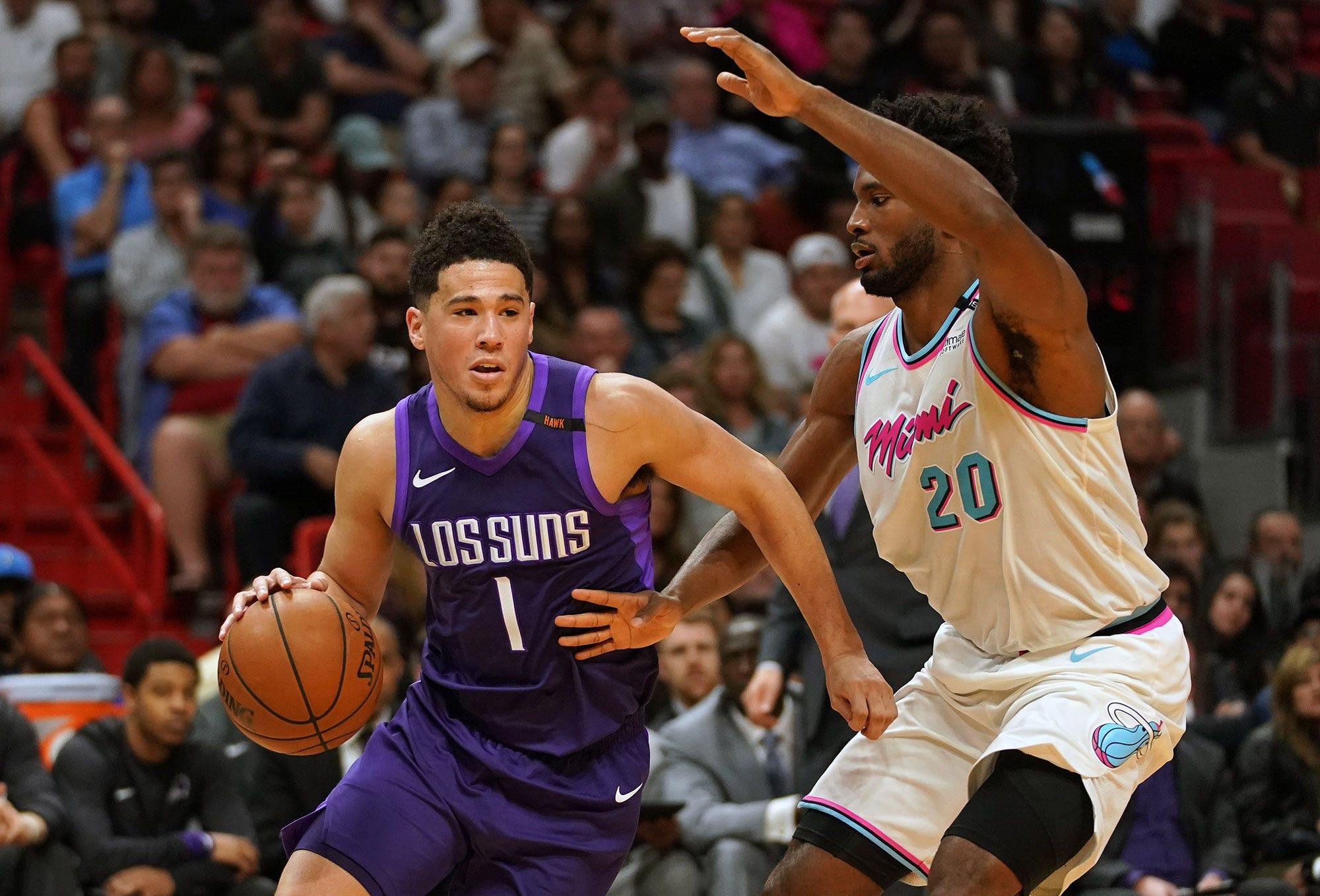 4111d57593c3 Devin Booker shoe deal  Phoenix Suns star nears sneaker free agency