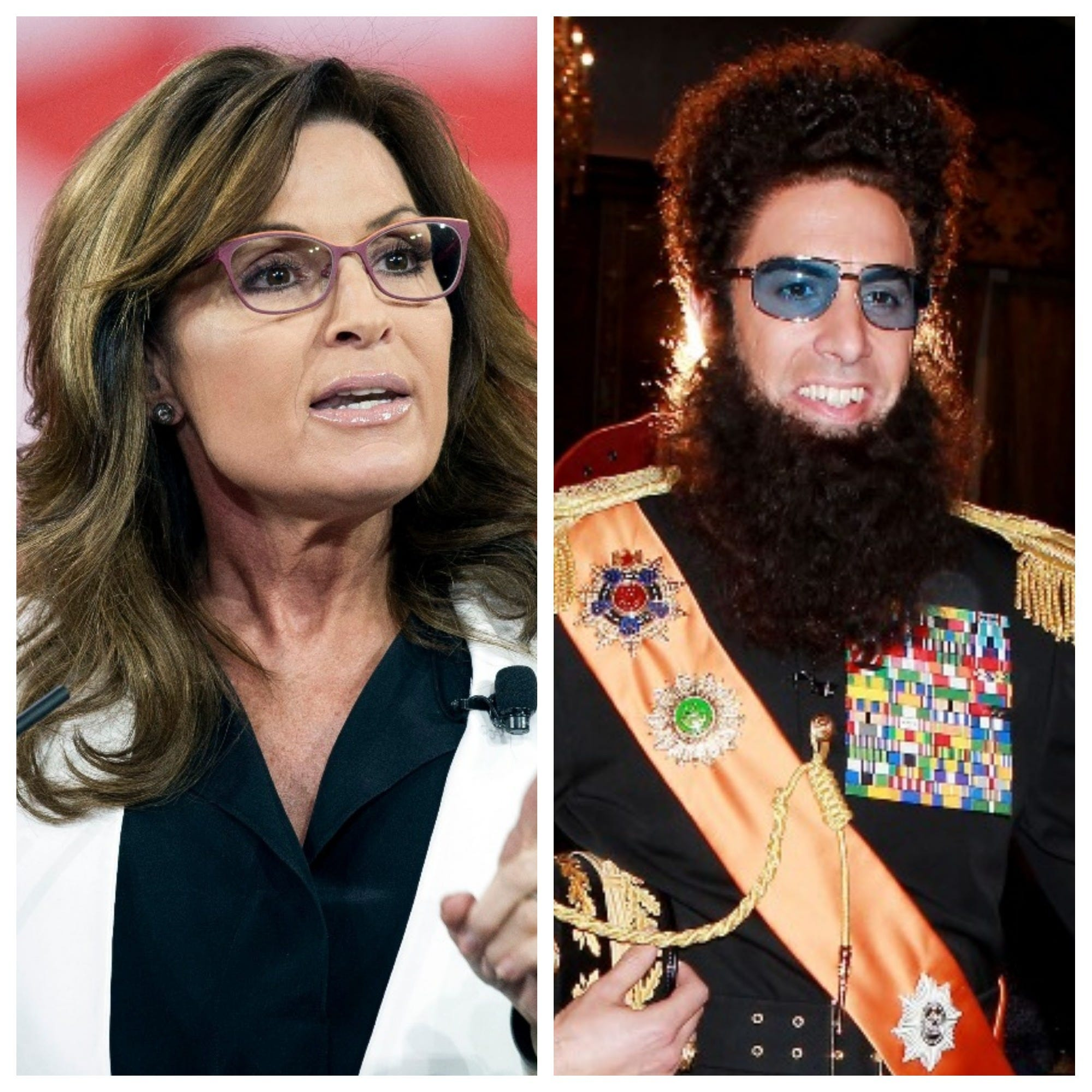 Showtime says Sacha Baron Cohen's new show proved Sarah Palin wrong: He didn't pose as veteran