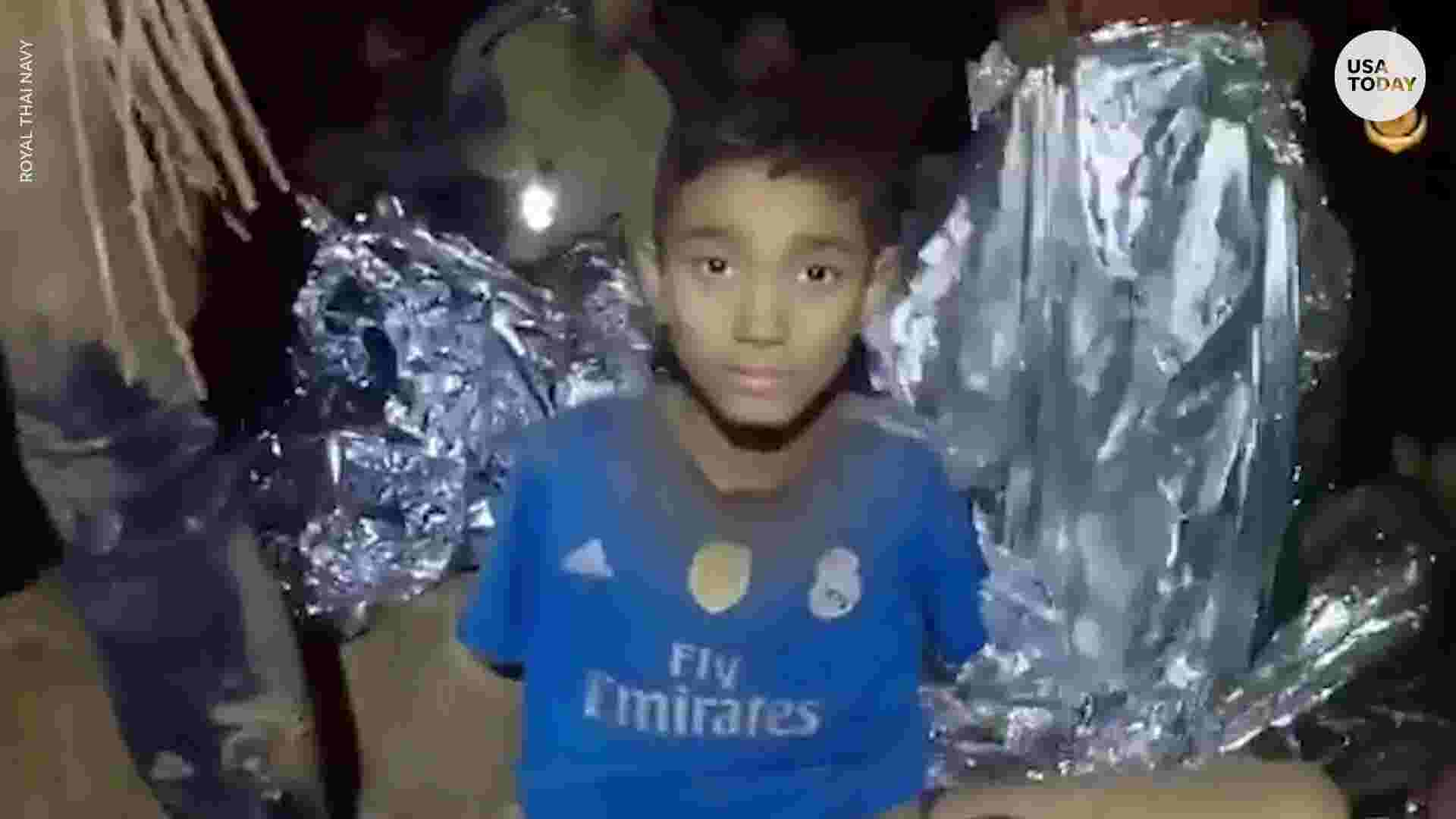 Video Shows Rescued Thai Soccer Players Waving To Pas Loved Ones