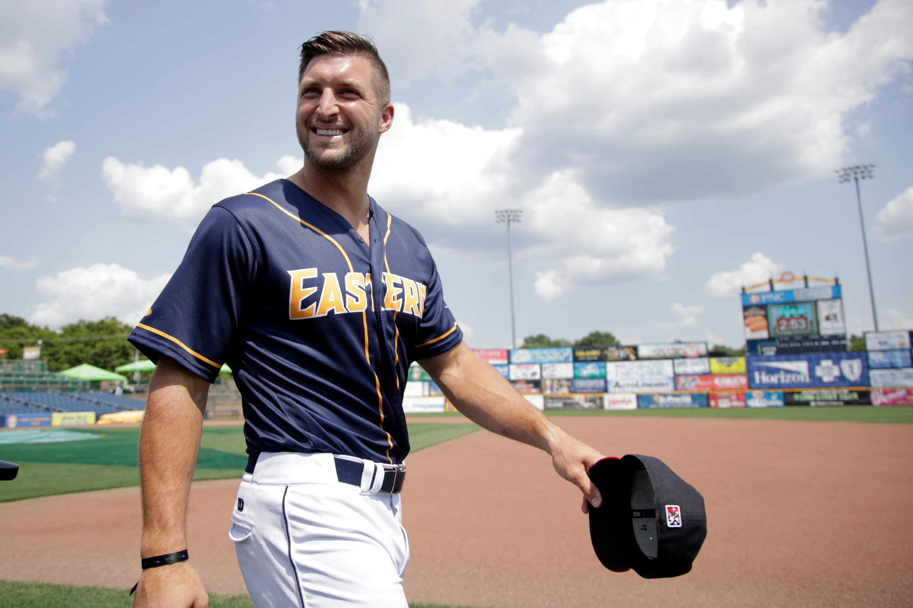 Tim Tebow doubles in first Eastern League All-Star Game at-bat