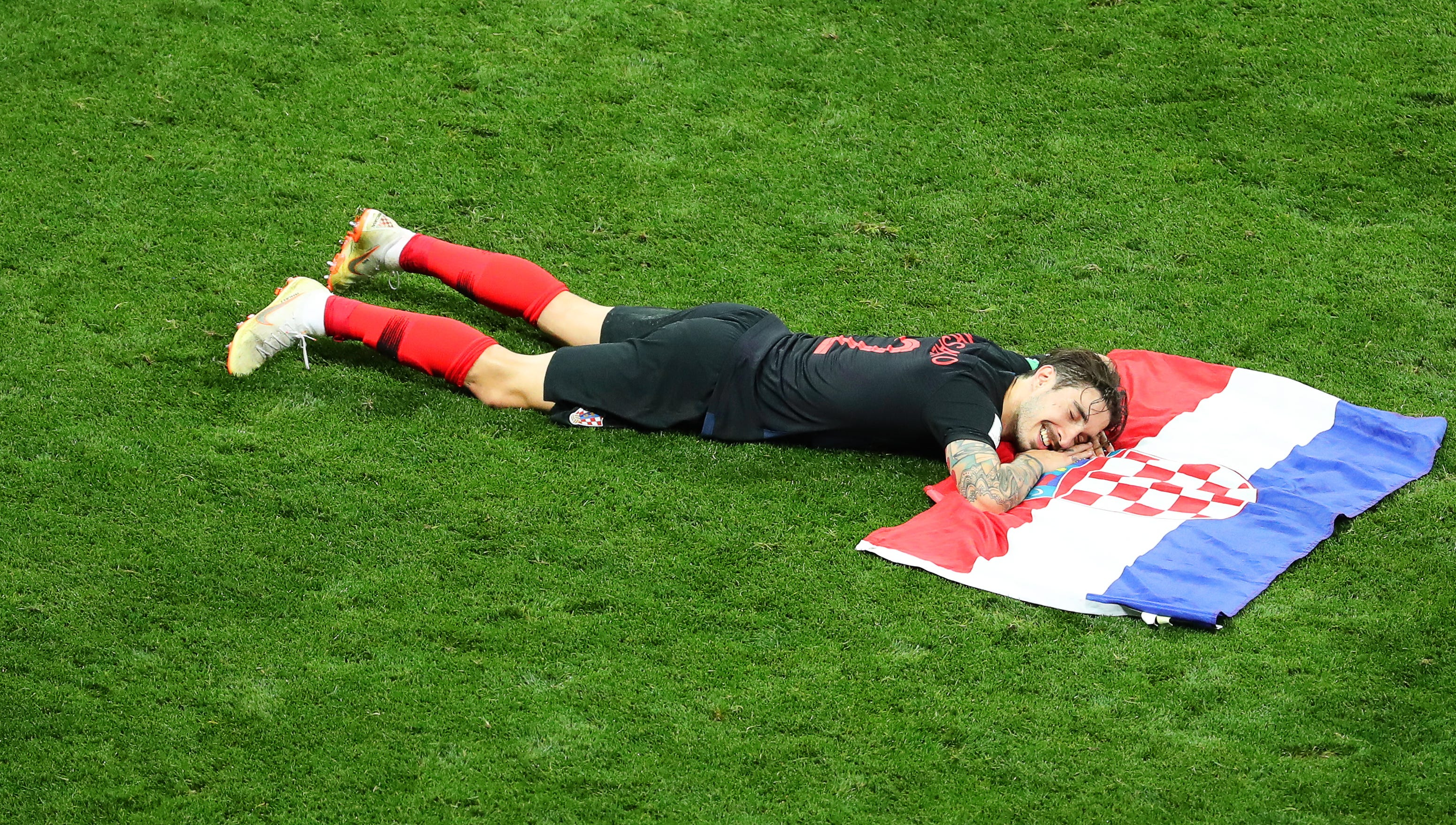 See Croatia celebrate on field after advancing to World Cup final