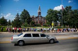 Funeral procession for Gov. Robert Ray