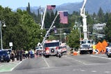 A memorial procession through Redding and Red Bluff Thursday paid one final salute to Redding Fire Chief Gerry Gray.
