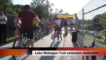 The Lake Wobegon trail extension to Waite Park is officially open.