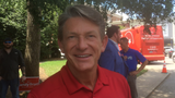 Republican gubernatorial candidate Randy Boyd talks about improving traffic, such as through optional HOV lanes, while campaigning in Murfreesboro.