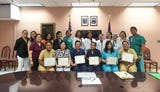 Nurses from Pohnpei received certificates for completing a GMHA and UOG School of Nursing and Health Sciences 10-day training program, July 13, 2018.