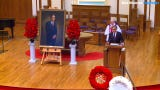 Iowans honored former Gov. Robert D. Ray during a funeral service at First Christian Church in Des Moines.