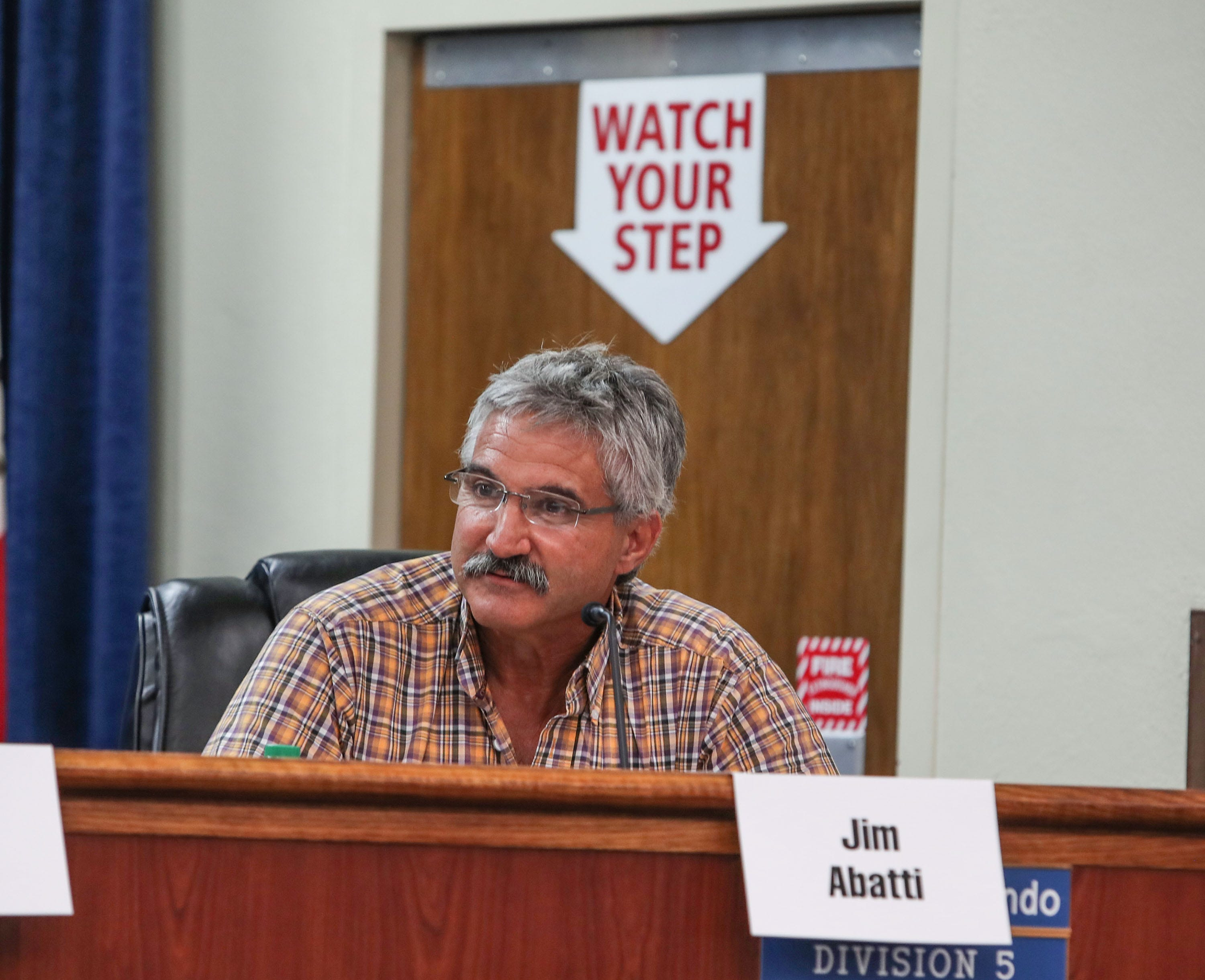 Jimmy Abatti attends a meeting of the Imperial Irrigation District's Water Conservation Advisory Board in El Centro on July 12, 2018. Abatti is a member of the advisory board.