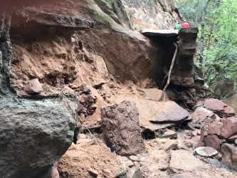 Zion National Park digging out after heavy rains damage popular trails, roadway   USA Today