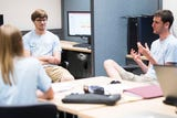 Ben Reber discusses his groups research at University of Tennessee Friday, July 13, 2018.