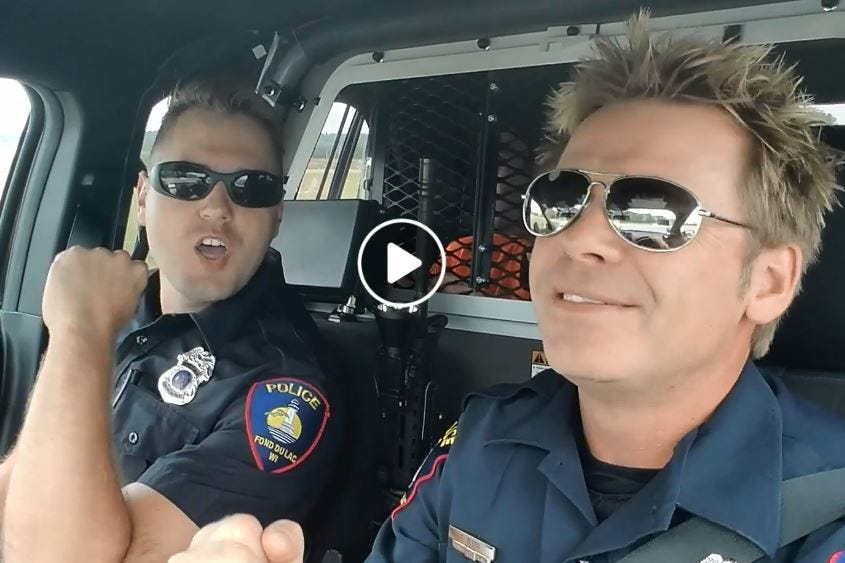 Police lip sync, Sam Dekker and Danica Patrick: Wisconsin loved these stories Image