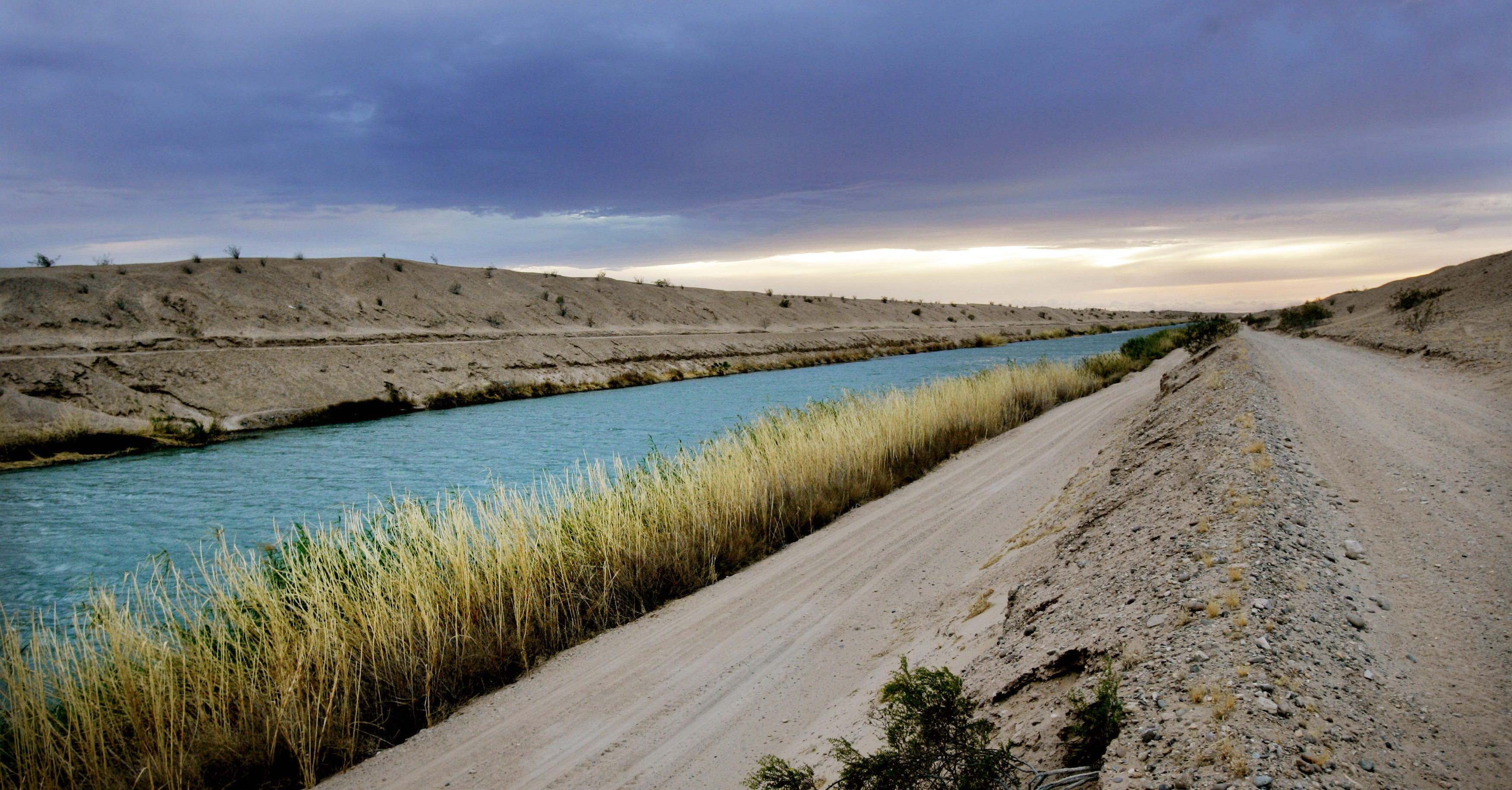 A view of the All-American Canal near Yuma, Arizona, on Feb. 28, 2006, before it was lined with concrete.