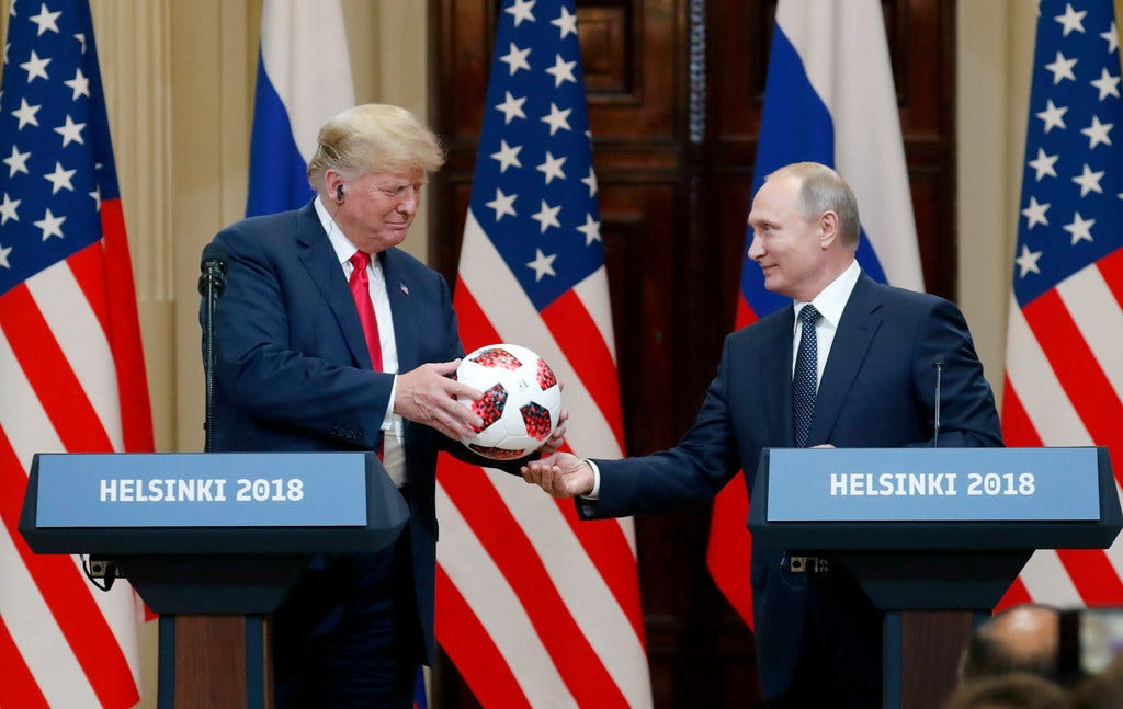 Trump has taken Putin's side. His stability and America's safety are now in question.