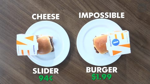 White Castle's 'Impossible Slider' Can you tell the difference?