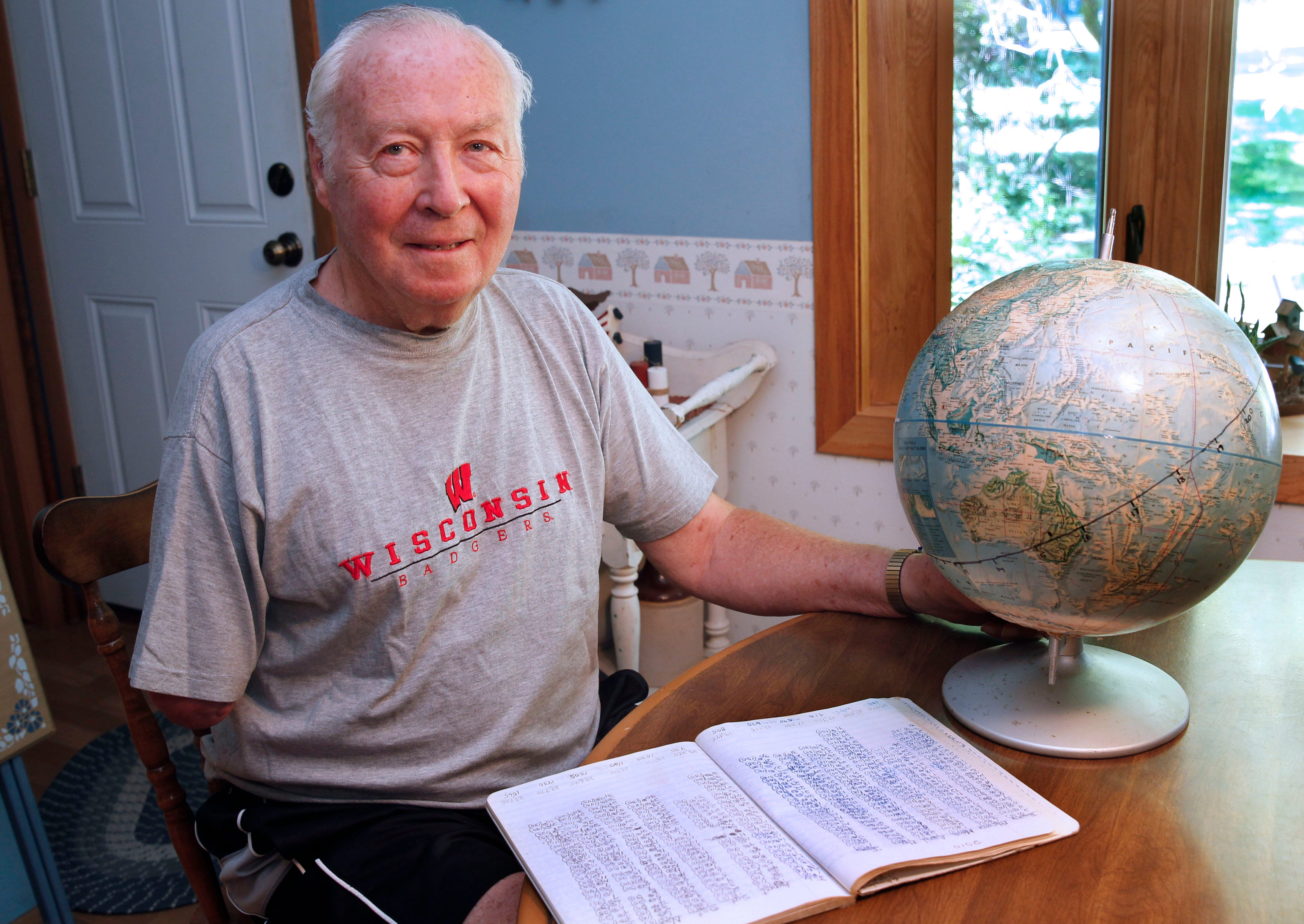 Stingl: 80-year-old walker charts his progress on a globe, and he's on his 2nd time around | Milwaukee Journal Sentinel