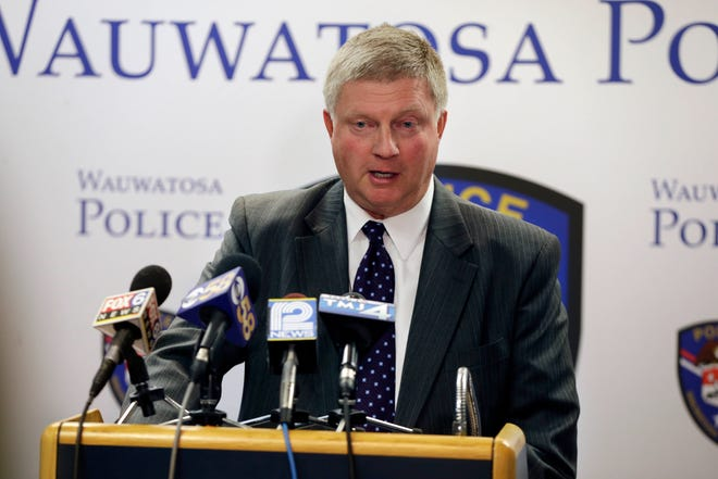 Wauwatosa Police Chief Barry Weber, pictured in this 2016 file photo, said recently he has concerns for Police Officer Joseph Mensah's safety if Mensah were to return to duty. Mensah has fatally shot three people in the last five years. The city's police and fire commission suspended him in July.