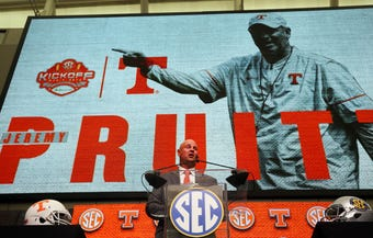 USA TODAY NETWORK - Tennessee's Blake Toppmeyer, Joe Rexrode and John Adams break down Jeremy Pruitt's first SEC Media Days appearance.