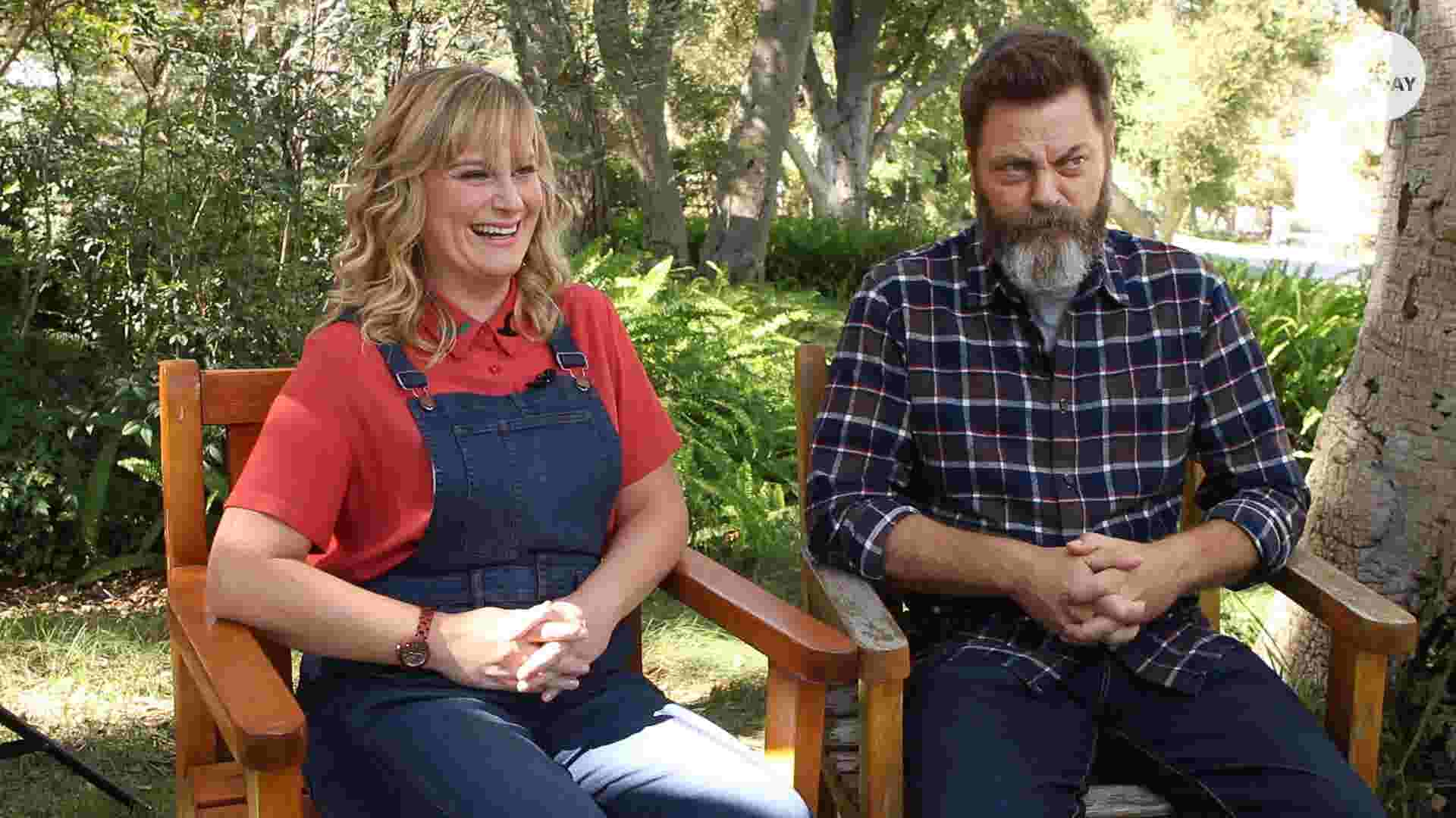 amy poehler and nick offerman reunite for new reality show. Black Bedroom Furniture Sets. Home Design Ideas