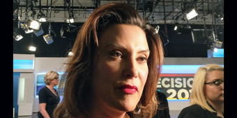 Democrat Gretchen Whitmer discusses delayed disclosure by a group who is running ads to benefit her.