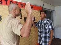 Santa Rita resident Keone Labra enlists in the Marine Corps