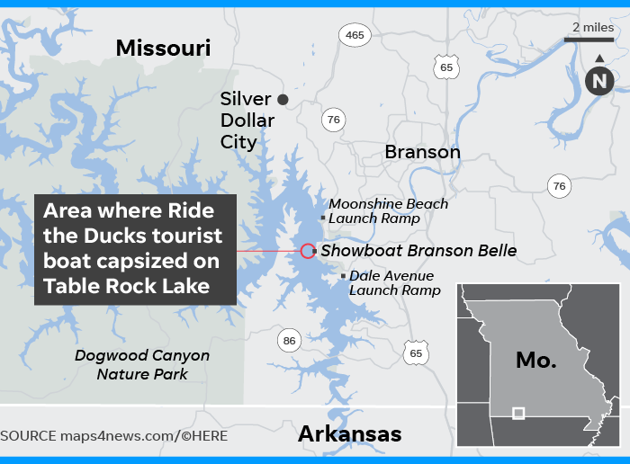 Branson duck boat accident leaves 17 dead, including 9 family members