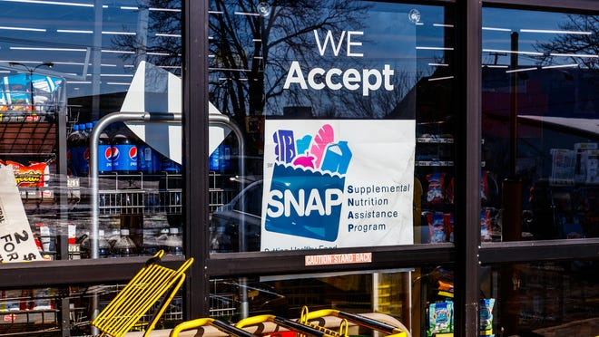 A sign for the Supplemental Nutrition Assistance Program.