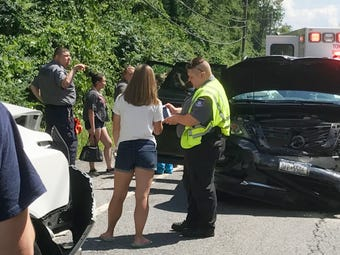A multi-vehicle accident injured six people and closed Route 22 at Old Route 22 in Patterson July 20, 2018.