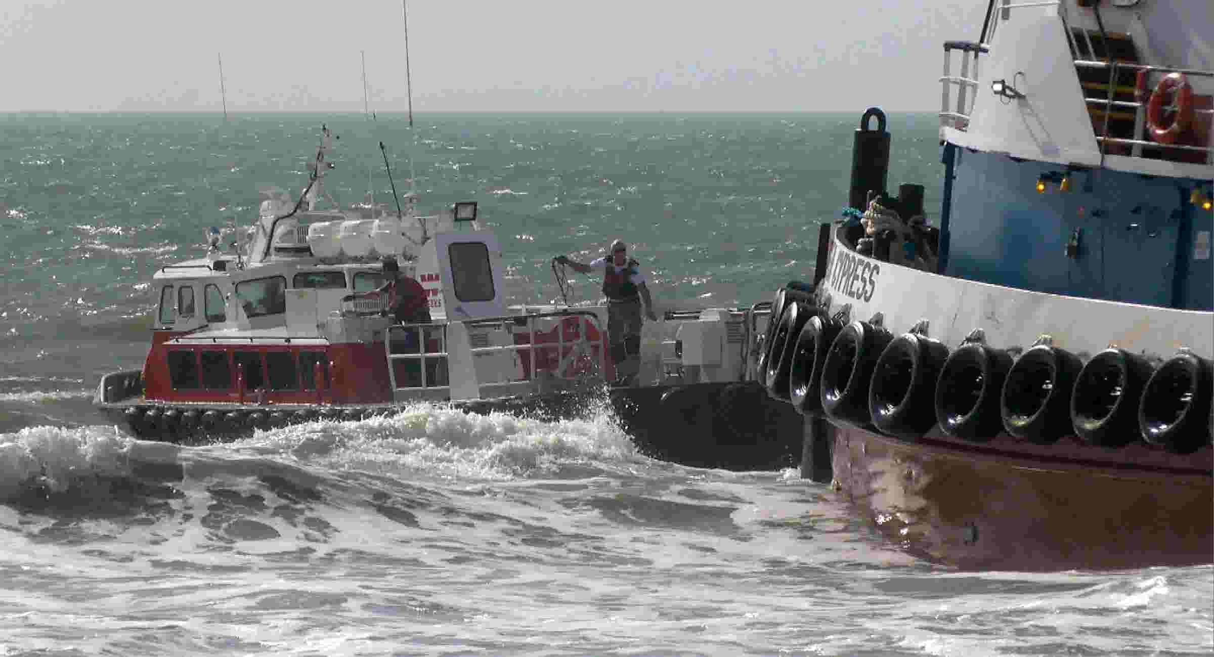Runaway tugboat grounded off Lavallette
