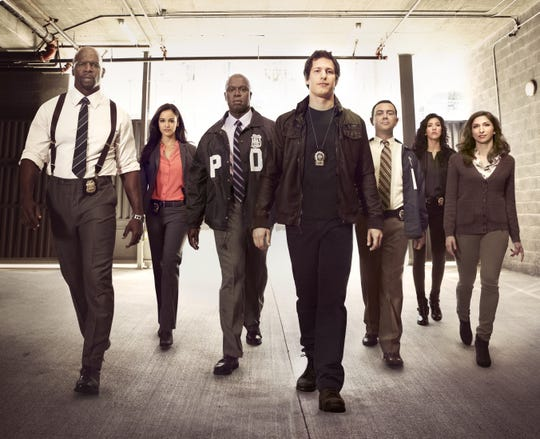 "Crews stars in the police procedural comedy television series""Brooklyn Nine-Nine"" with Melissa Fumero, AndreBraugher, Andy Samberg, Joe Lo Truglio, Stephanie Beatriz and Chelsea Peretti."