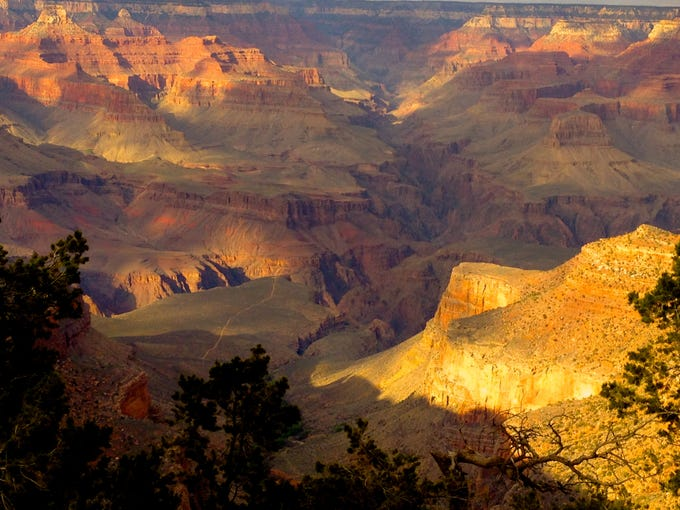 The Rim Trail stretches for 13 miles along the edge of the South Rim. It's mostly paved and level.