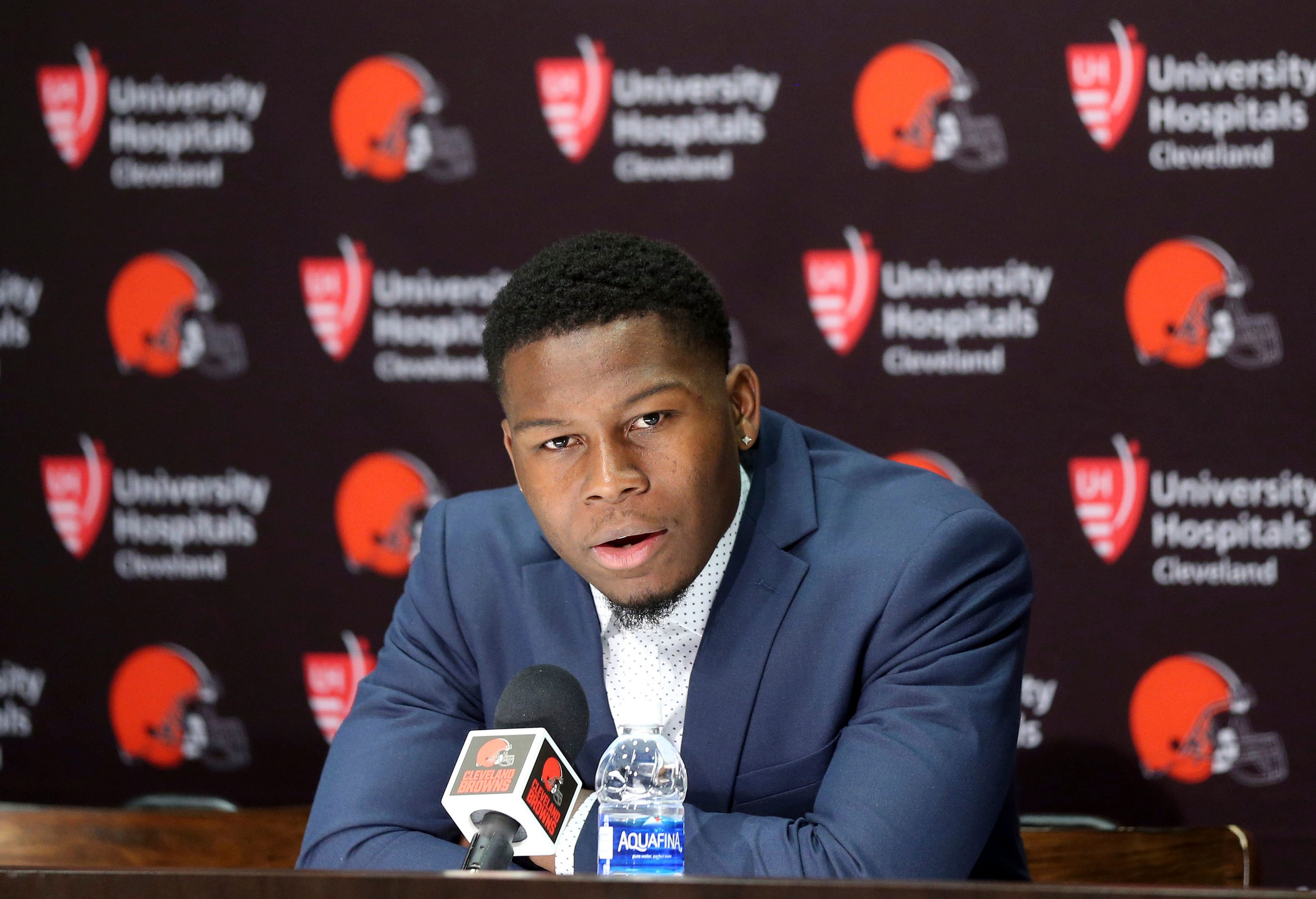 Browns cornerback Carrie inspired by James' school in Akron
