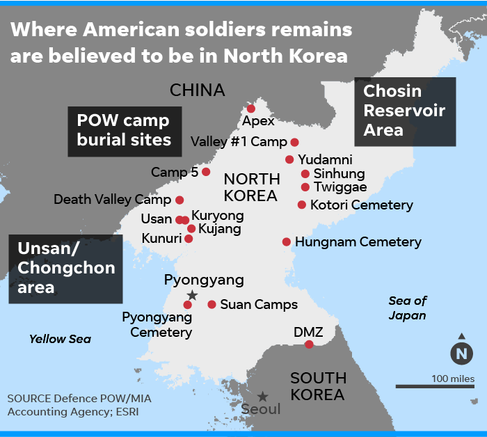 Us Remains From Korean War Given By Kim Jong Un Could Take Years To Id