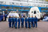 NASA announces the astronauts selected to fly on Boeing and SpaceX spacecraft at Johnson Space Center in Houston on Friday, Aug. 3, 2018.