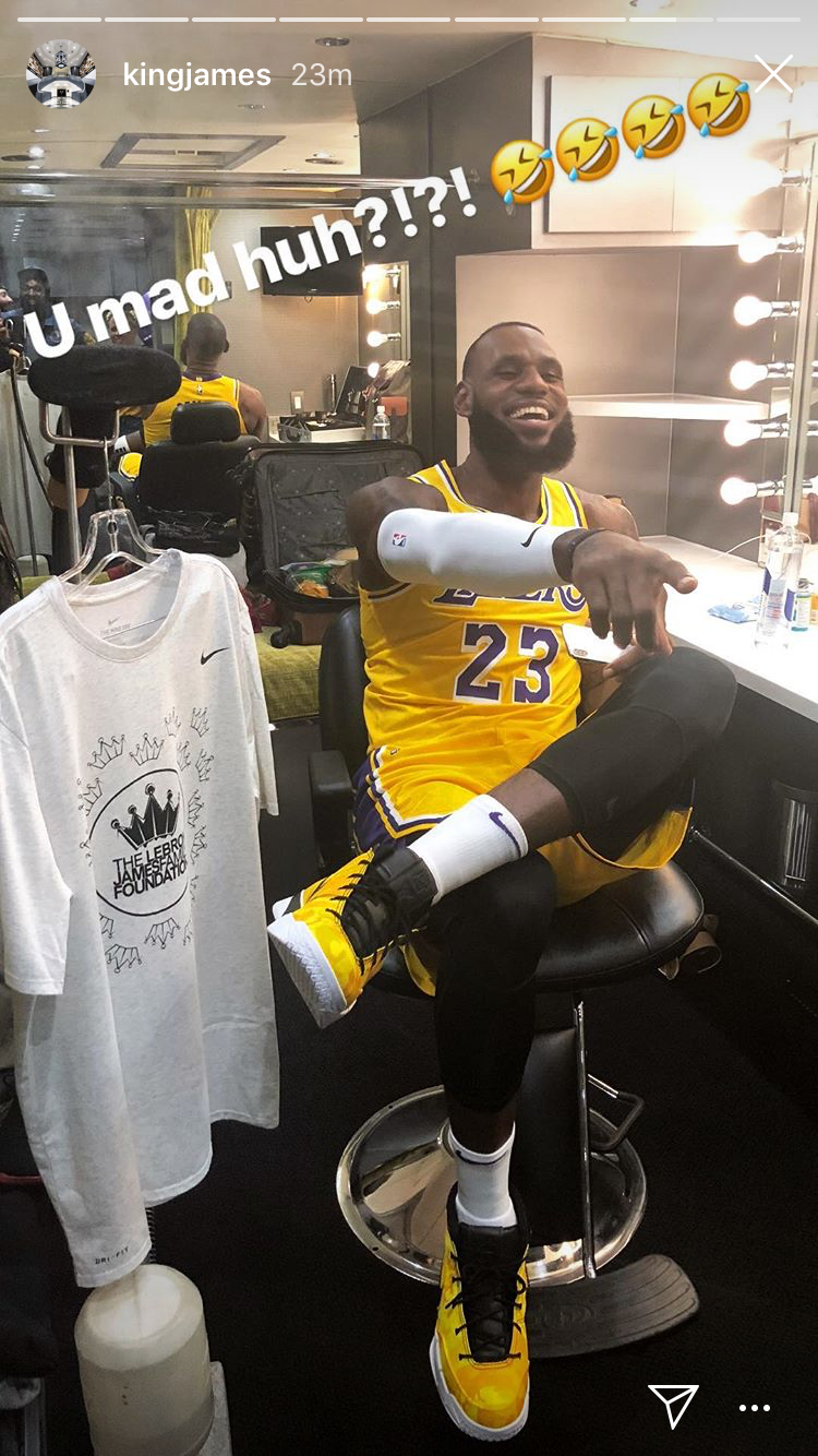 LeBron James posts photos in full Lakers jersey for first time 41859a6cf