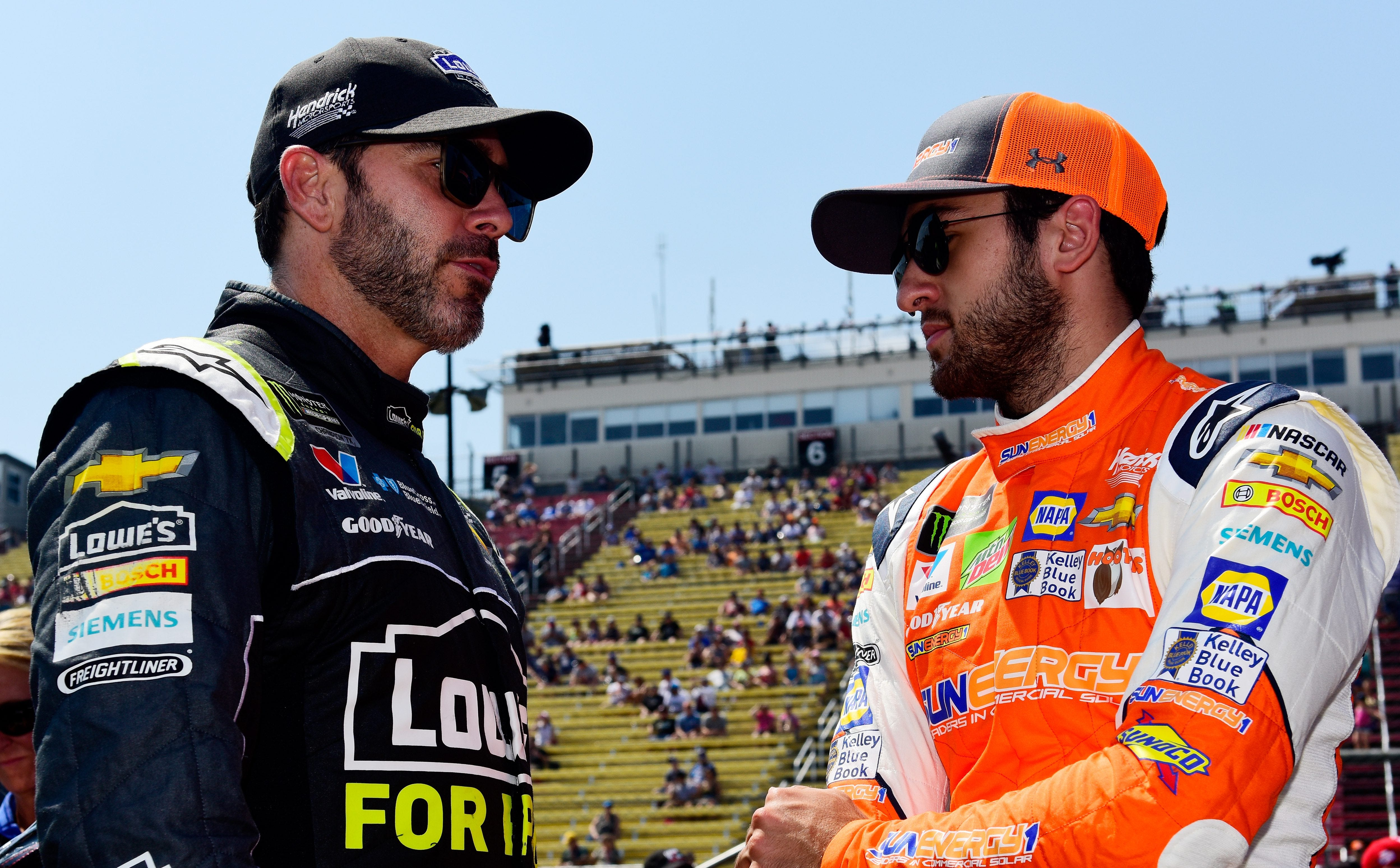 Chase Elliott on Jimmie Johnson's 'awesome' sportsmanship after first win