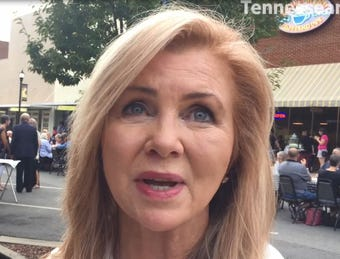Marsha Blackburn in Dickson: Talks about more rural internet access, fewer tariffs and building the wall along the Mexican border.