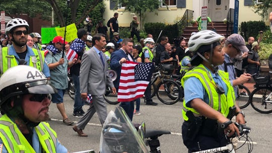 I was at the sad white supremacists gathering. It didn't fool me. Their movement is rising.