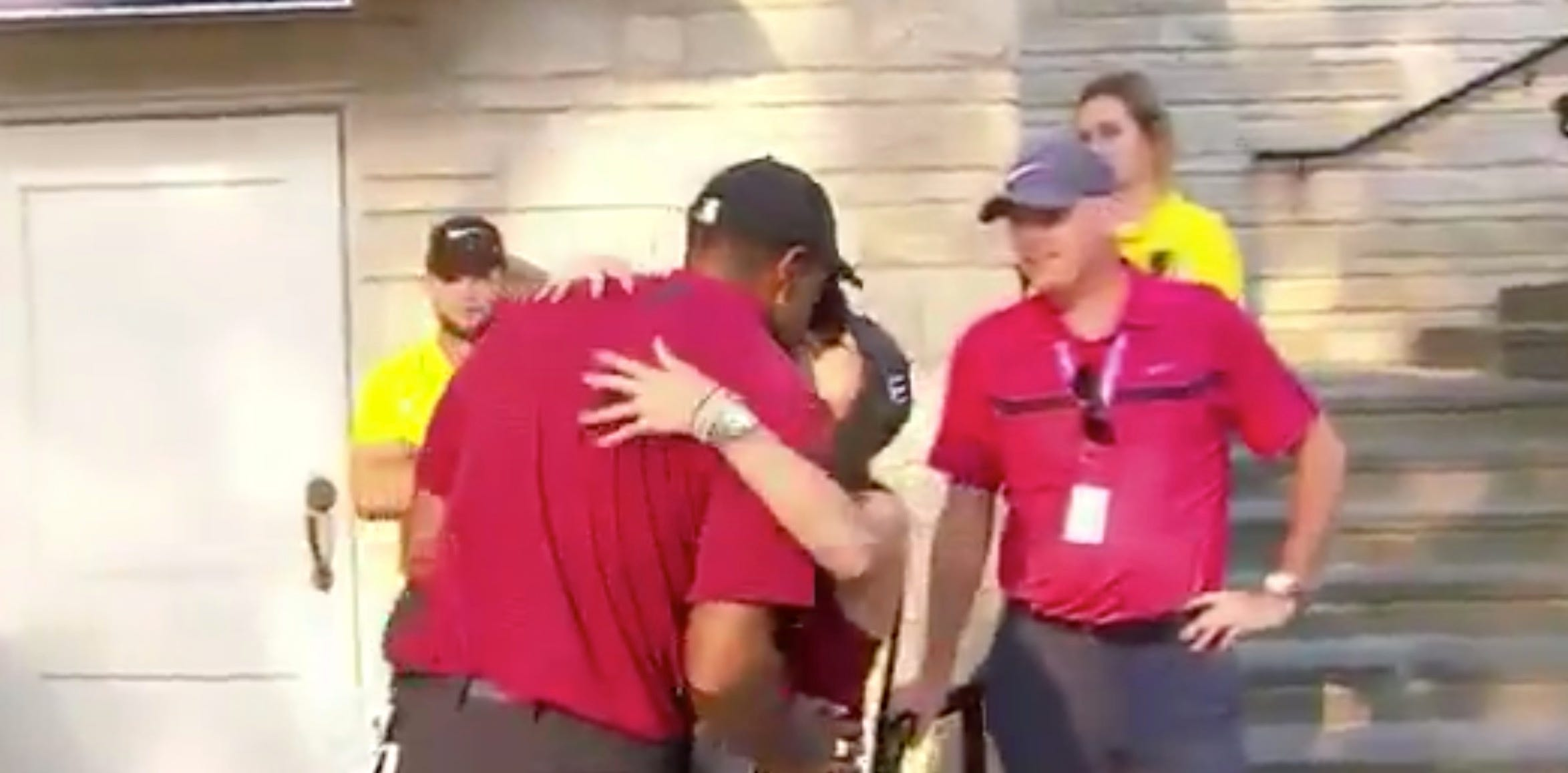 Fans had questions about Tiger's post-round kiss