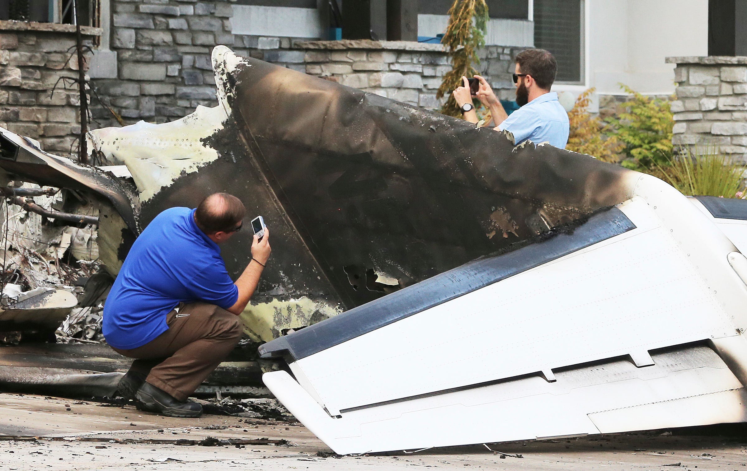 Pilot crashes plane into his own home in Utah with wife and boy inside, police say