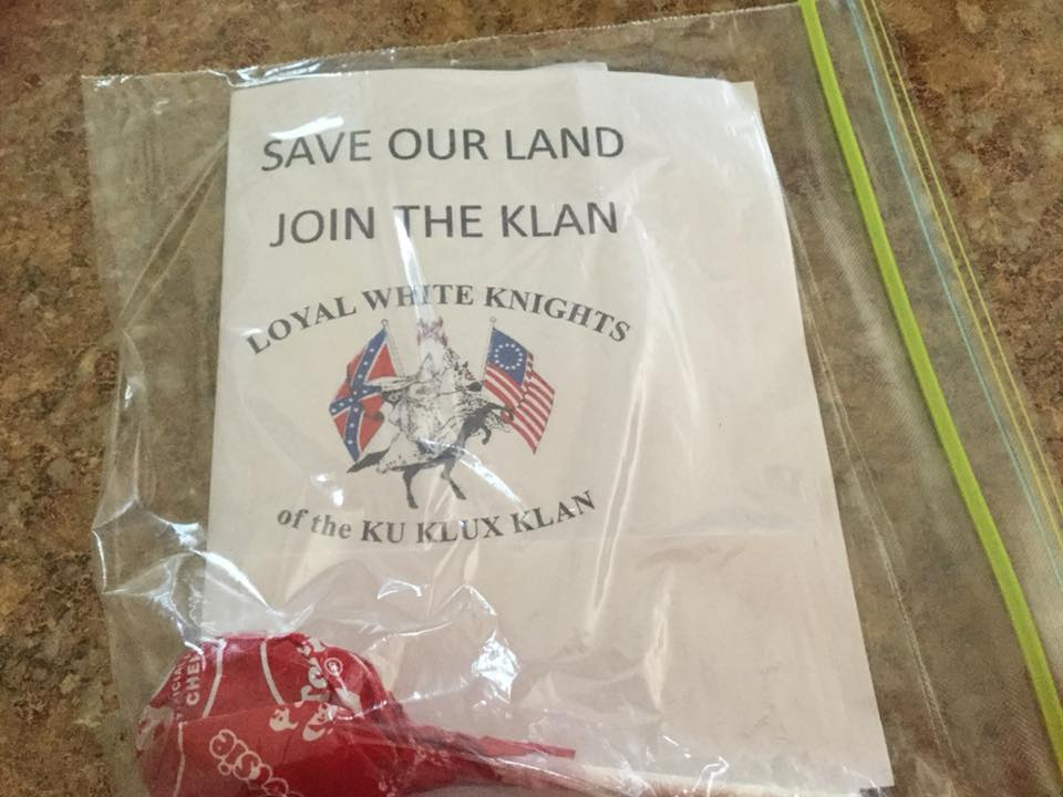 Sioux Falls residents are finding KKK fliers and candy on public sidewalks | Argus Leader