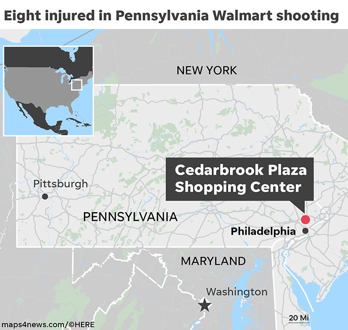 Walmart Shooting: Eight Injured After Dispute In Pennsylvania