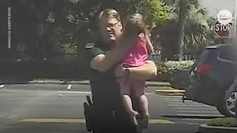 In dramatic video released by the Seminole County Florida Sheriff's Office, Deputy Bill Dunn noticed the 3-year-old child locked in the sweltering car. He didn't wait for an ambulance to arrive, but rushed her to the hospital in his patrol car, talking to her the whole way.