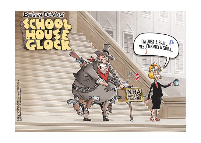 Education Secretary Betsy DeVos has a plan to arm teachers.