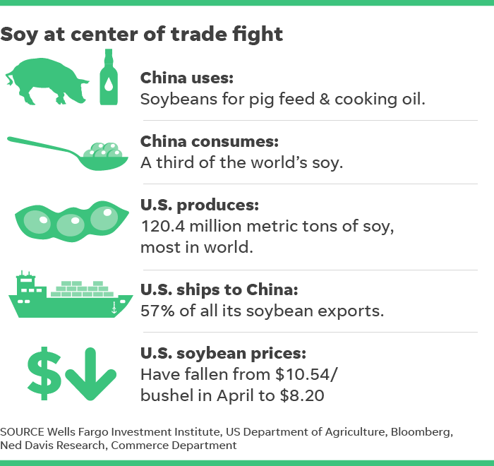 US China trade war: Chinese demand for American soybeans may