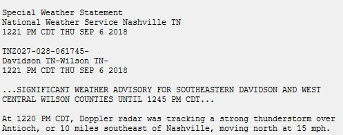 Nashville weather: Storm moving through Middle Tennessee
