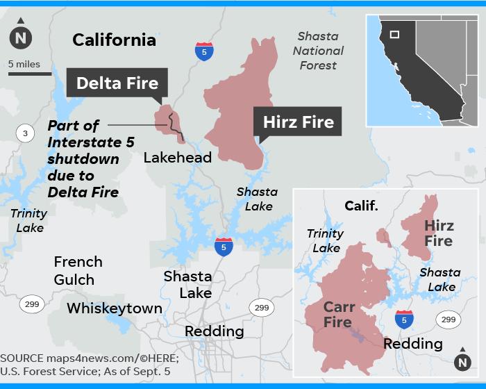 California's Delta Fire grows to 22,000 acres
