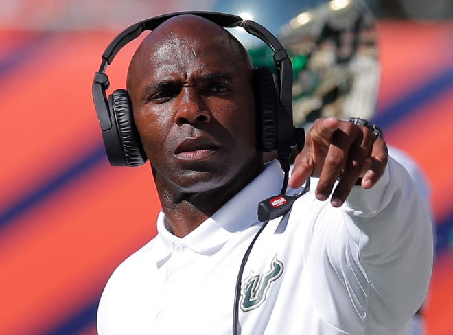 Jaguars inside linebacker coach and assistant head coach Charlie Strong was the coordinator for some of the best defensive teams in University of Florida history from 2003-2009.