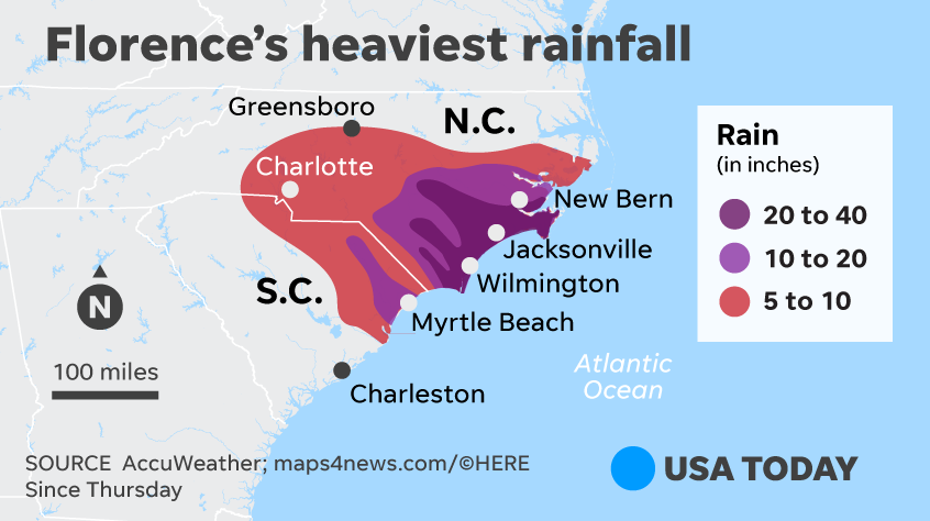Florence Flooding To Swamp Carolinas For Days Or Weeks
